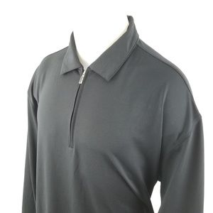 Nike Golf Mens Polo Shirt Sz XL Zipper Fit Dry